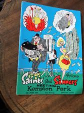 RARE PROGRAMME 1970 SAINTS & SINNERS MEETING KEMPTON PARK ROY ULLYETT COVER